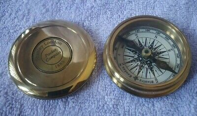 Stanley London Pocket 1885 Compass Vintage Brass Nautical Compass Free Shipping