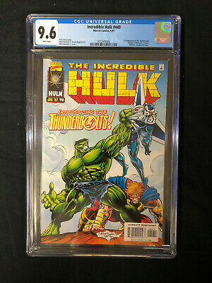 Incredible Hulk #449 (1st Series) CGC 9.6 Marvel 1st Appearance  Thunderbolts