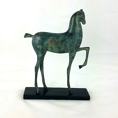 Bronze Etruscan Art Deco Horse Antique Verdi Patina after Boris Lovet-Borski