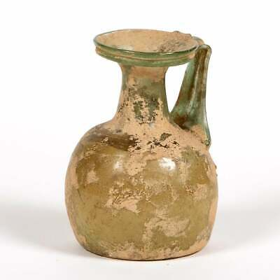 Ancient Roman Glass Jug c.2nd century AD. Size 4 inches high.