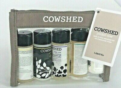 Cowshed Pocket Cow Bath & Body Essentials Kit 5 x 30 ml Skincare Travel NEW
