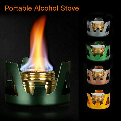 Mini Survival Alcohol Stove Outdoor Hiking Camping Picnic Cooking Burner Tool CN