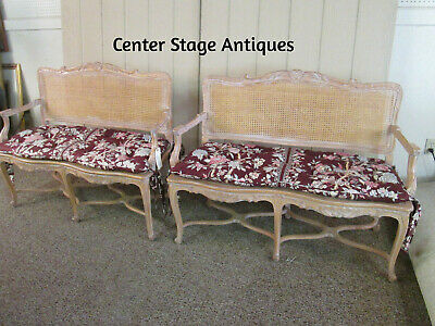 57556  Pair Decorator French Country Loveseat Sofa Bench Settee
