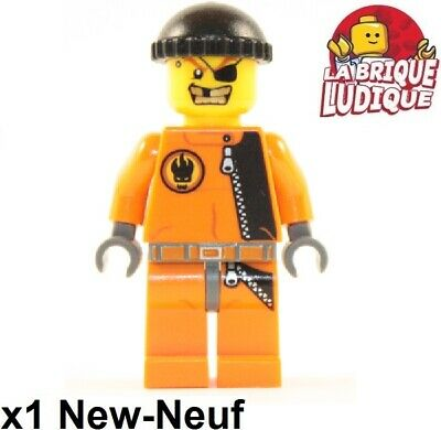 LEGO Agents Agent Fuse Minifigure with Headset and Dark Orange Hair