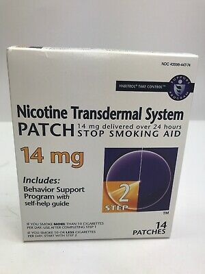 Nicotine Transdermal System Patches 14mg Step 2 14 Patches EXP Dec 2019