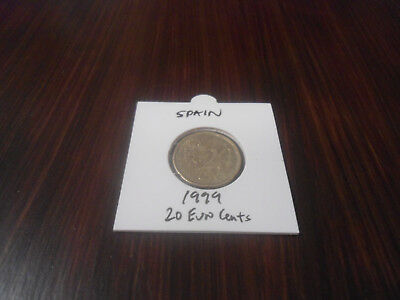 1999 Spain 20 Euro Cents coin Spanish twenty euros cent