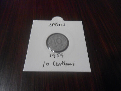 1959 Spain 10 Centimos coin Spanish ten centimo