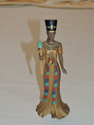 "EGYPTIAN Queen Nefertiti Holding Secptor~8 1/2""~ ©Lenox~Fine China~Hand-painted"