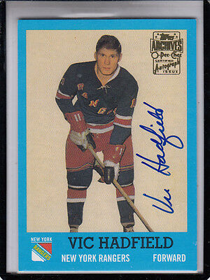 """2001-02 Topps OPC Archivi Vic Hadfield """" N.y. Rangers / G. A. G. Line """""""