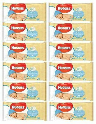 HUGGIES BABY WIPES PURE 56ct (12 PACK)