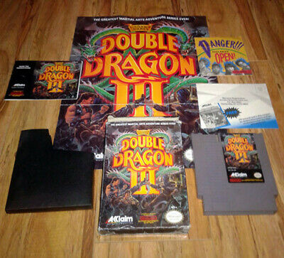 NES Double Dragon III: Sacred Stones (w/ Box, Manual, Poster, Inserts)
