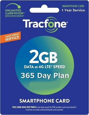 TracFone Service Extension 1 Year/365 Days REFILL Android Samsung LG No BYOP