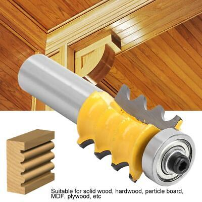 "1/8"" Radius Triple Bead Trim Molding Router Bit 1/2"" Shank Woodworking Tool HOT"