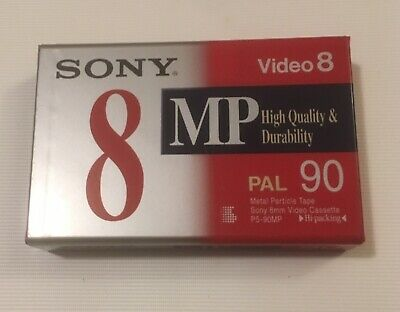 New Sony 8mm Video Cassette/Tape - Video8 - MP Hi-Packaging - 90 Minute P5-120MP