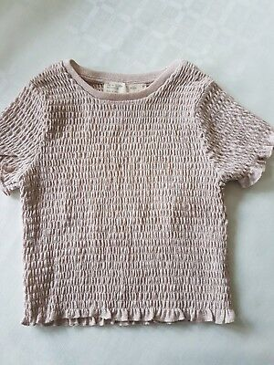 NEW - ZARA Kids Collection Size 5 (110cm) Blush Pink Short Sleeved Top