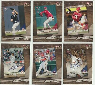 2019 Topps Series 1 Topps Now Review Complete Set (10 cards) TROUT ACUNA OHTANI