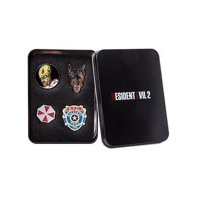 Official Resident Evil 2 Limited Edition Collectors Pin Badge Set Zombie Dog RPD