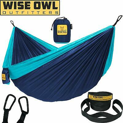 Wise Owl Outfitters Hammock Camping Double with Tree Straps - USA Based Hammocks