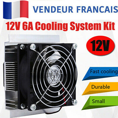 Thermoelectric Peltier Refrigeration Cooling Cooler Fan System Heatsink Kit FR