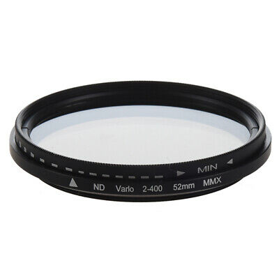 5X(52mm Adjustable Neutral Density ND Fader Filter ND2 ND4 ND8 to ND400 R6A8)