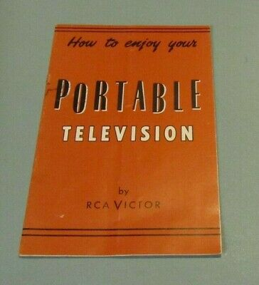 1950's How To Enjoy Your Portable Television RCA Victor Manual Antennas UHF VHF