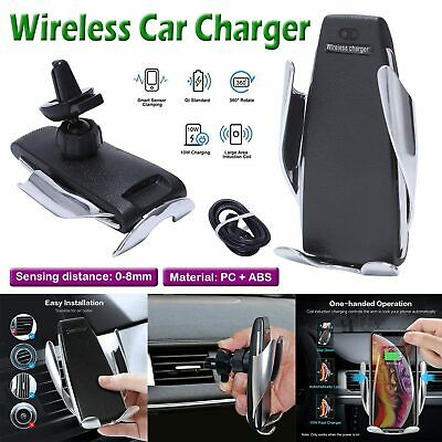 360° Rotate Wireless Auto Clamping Car Fast Charger Phone Holder Air Vent Mount