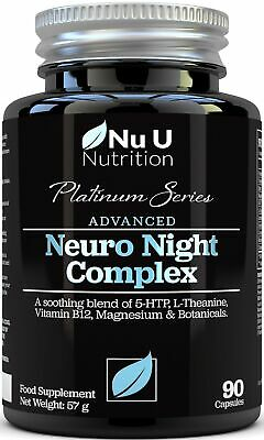 5HTP Melatonin 5-HTP Magnesium & Natural Sleeping Aid 90 Vegetarian Neuro Night
