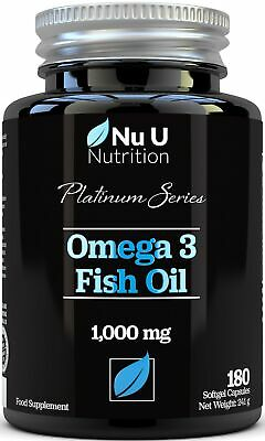 Omega 3 Fish Oil 1000mg Double Strength EPA & DHA Softgel Capsules Omega 3 6 9