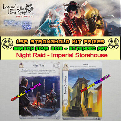 LEGEND OF THE FIVE RINGS L5R LCG - Night Raid - Promo Stronghold Kit 4 2018