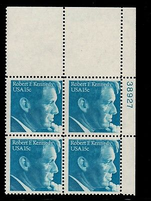 ALLY'S STAMPS US Plate Block Scott #1770 15c Robert F. Kennedy [4] MNH [STK]
