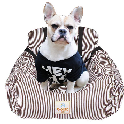FRISTONE Dog Car Seat, Dog Booster Car Seat Travel Carrier with Clip-on Safety -