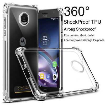 For Moto G7 E5/4 Plus G6 Play G7 Power Clear Slim Soft TPU Shockproof Case Cover