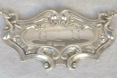 A Stunning Antique Solid Sterling Silver Gin Decanter Label Chester 1929