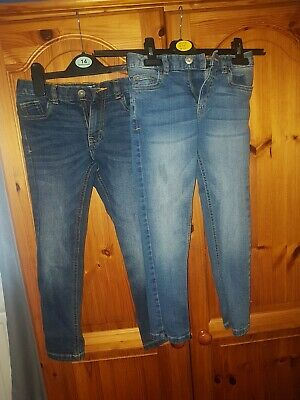 2 Pairs Of Boys Jeans By Very Age 8 With Adjustable Waist