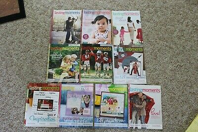 2008 & 2009 Creative Memories Lasting Moments Ideas For Scrapbook Magazines