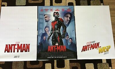 Ant-Man & Ant-Man And The Wasp Original Movie Poster 27X40 DS Lot Of 3 U.S