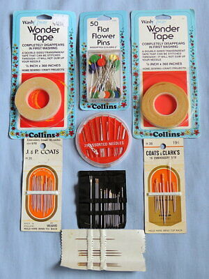 90 + Needles - Collins/J&P Coats - Washaway Wonder tape