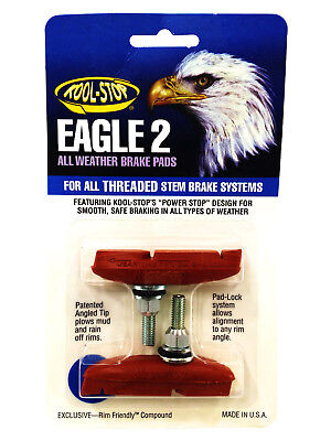 Kool Stop Eagle Claw Ii 2 Cantilever Brake Pads Threaded Post Salmon Compound