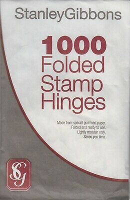 Stanley Gibbons Folded Stamp Hinges Pack of 1000
