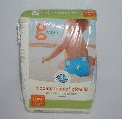 gDiapers Biodegradable Refill Pack 13-36lbs 32 Refills Size Medium / Large