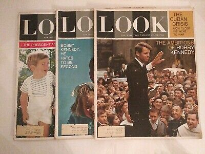 LOOK Magazine – Lot of 3 Magazines - JFK and Bobby Kennedy