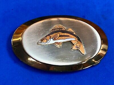 Figure cut out -  jumping fish  Trout? Fishermans belt buckle
