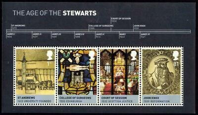 Great Britain 2010 The Age of The Stewarts Mini Sheet MNH Face Value £3.02