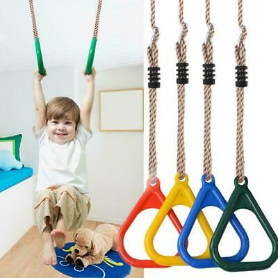Gymnastic Rings Training Straps Strength Pull Fitness Kids Adjustable Plays T0I9