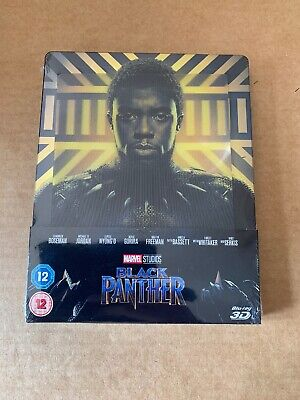 Black Panther 3D Blu Ray Lenticular Steelbook Brand New & Sealed Marvel Avengers