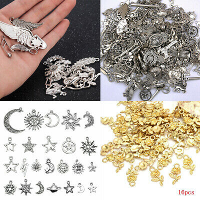 Vintage Silver Bronze Charms Pendants DIY Crafts Jewelry Making Setting