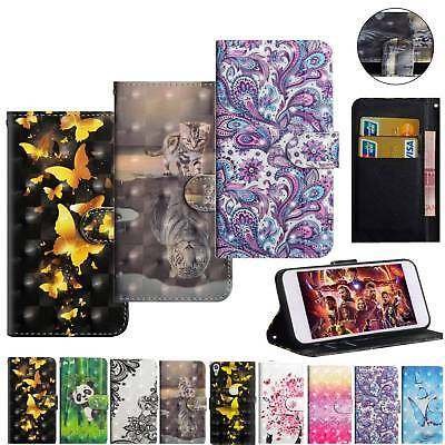 PU Leather Bling Printed Wallet Stand Case Cover For Alcatel LG ASUS BQ lenovo