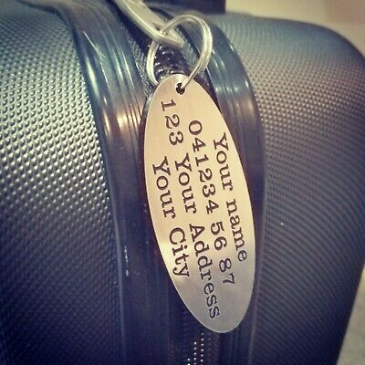 Luggage Tag personalised travel accessories wedding gift baggage tag