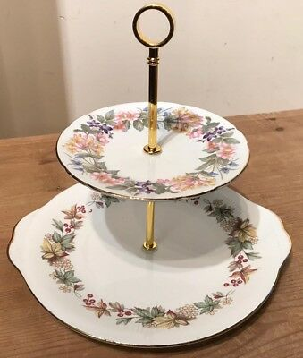 Vintage Cake Stand- 2 Tier- Ideal for afternoon Tea - Perfect Christmas Gift #H