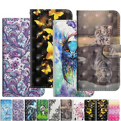 Glitter Printed Magnetic PU Leather Wallet Phone Case Cover For Alcatel 3V U5 1X